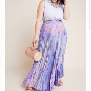 Anthropologie Siddhartha Bansal Marble-Dyed Skirt